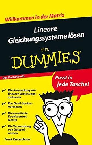 Lineare Gleichungssysteme lösen für Dummies Das Pocketbuch