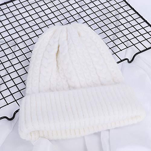 Muts vrouwen hoeden winter wol breien beanie vrouwen effen gehaakt casual hoed vrouwelijk zachte, warme verdikte twist patroon kappen