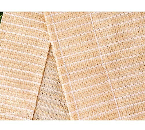 junranxingpifabu 85% Fabric Sun Block Mesh, Garden Plants Pergola Cover Canopy Sunblock Shade Net Cloth with Grommets for Barn Kennel Shade Cloth (Color : Beige, Size : 4X8M/13.1X26.2FT)