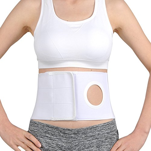 Medical Ostomy Belt Ostomy Hernia Support Belt Abdominal Binder Brace Abdomen Band Stoma Support for Colostomy Patients to Prevent Parastomal Hernia Stoma Opening- Men Or Women- Size S