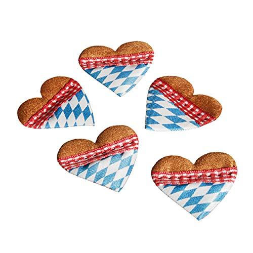 PAPSTAR Streudeko 14 Herzen Oktoberfest Bayern Fest Party Feier Festzelt Hüttenzauber Tischdeko Girlande Deko Festzelt
