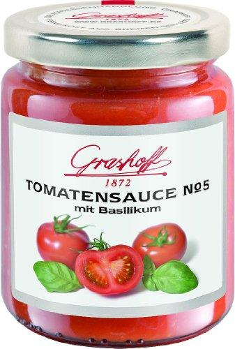 Grashoff Tomatensauce No. 5, mit Basilikum, 200 ml, 3er Pack (3 x 200 ml)