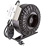 Apollo Horticulture 4' 6' 8' Inch Inline Fan with Built in Variable Speed Controller - Choose Your Size (4' Inch)