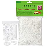 Treens Trellis Netting 5x30 ft. with 10 Additional Plant Clips, Trellis for Climbing Plants Outdoor Best for Cucumber Trellis Tomato Grape Bean and Vine Plants (1 Pack)