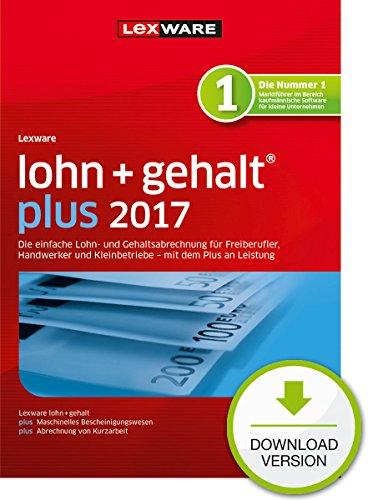 Lexware lohn+gehalt 2017 plus-Version PC Download (Jahreslizenz) / Einfache Lohn- & Gehaltsabrechnungs-Software für Freiberufler, Handwerker & Kleinbetriebe / Kompatibel mit Windows 7 oder aktueller