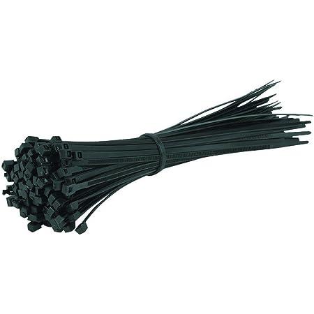 Gocableties 100 Stück Kabelbinder Schwarz 200 Mm X 4 8 Mm Premiumqualität Uv Beständiges Set Baumarkt