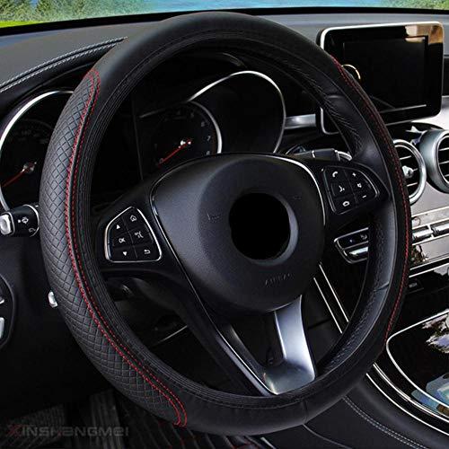 Boner Stuurhoes Braid op de stuurhoes Auto Wieldop Auto, zwart en rood