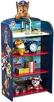 Delta Children Wooden Playhouse 4-Shelf Bookcase for Kids
