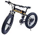 Bicicletas, Bicicleta eléctrica para adultos Bicicleta de montaña de 26 pulgadas 36V 350W 10Ah Batería de iones de litio extraíble Frenos de disco doble, adecuados para andar en bicicletas estáticas