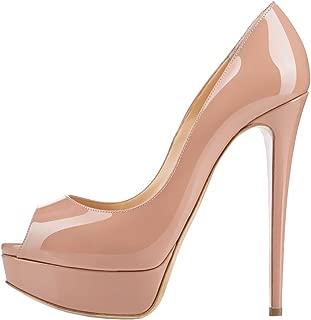 Women's High Heels Platform Shoes Peep Toe Pumps for Dress Wedding Party