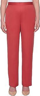 Alfred Dunner womens Petite full back elastic medium length pant Pants