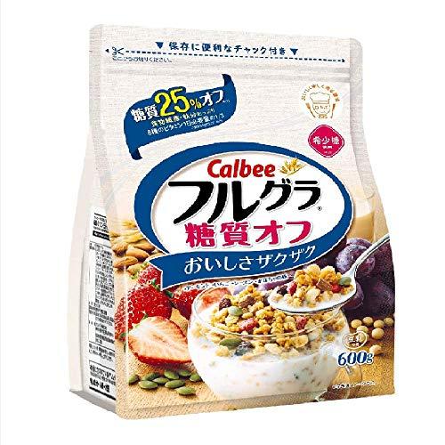 カルビー Calbee 糖質オフ フルグラ 600g×6個 グラノーラ フルーツグラノーラ シリアル ドライフルーツ 朝食 栄養 穀物 チャック付き