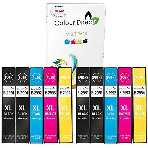 ColourDirect 29XL (10 Pack) Compatible Ink Cartridges Replacement Epson 29 XP-235 XP-245 XP-247 XP-255 XP-257 XP-332 XP-335 XP-342 XP-345 XP-352 XP-355 XP-432 XP-435 XP-442 XP-445