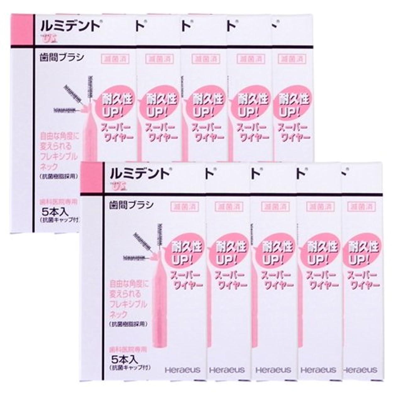 設計図バイオリン対処ヘレウス ルミデント 歯間ブラシ 5本入 × 10個 US ピンク