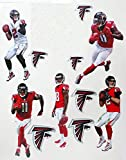 Atlanta Falcons Mini FATHEAD Graphics Team Set 5 Players +5 Falcons Logo Official NFL Vinyl Graphics - Each Player 7' INCH
