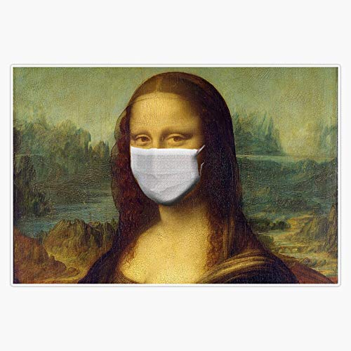 Coronavirus|COVID-19 - Mona Lisa Wearing Mask Decal Vinyl Bumper Sticker 5'