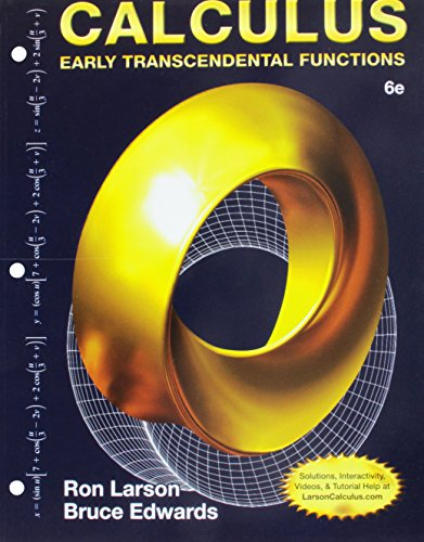 Bundle: Calculus: Early Transcendental Functions, Loose-leaf Version, 6th + WebAssign Printed Access Card for Larson/Edw