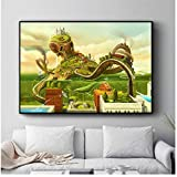 Surreal City Chess Beach Set Wall Art Canvas Painting Poster Prints Pictures For Living Room Decoration Home Paintings Decor60x80cm