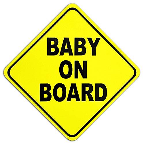 Auto Magnetschild BABY ON BOARD | Schild magnetisch Baby an Bord (15 x 15 cm)