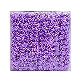 WT-DDJJK 1 set/144 piezas de rosas espumadas decoración de escritorio decoración de la torta DIY guirnalda flores artesanías decoración del hogar boda decoración púrpura