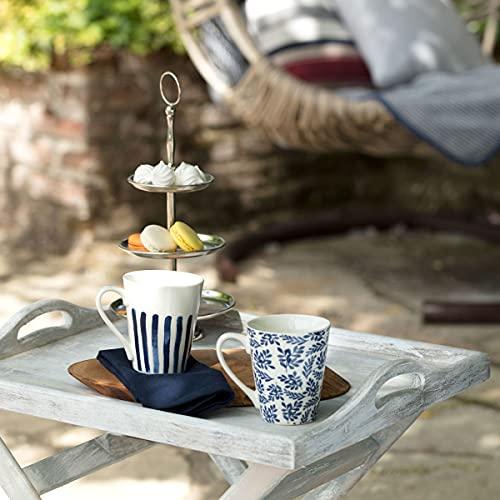 Madame Coco Maena Rhemu Tassen 2er Set - Kaffeetasse Teetasse 300 ml Design, hellblau orientalisch hochwertig, tee, mocca cappuccino kaffee , das ideale Geschenk