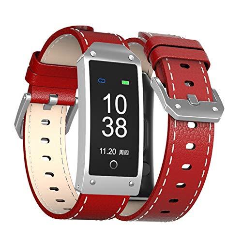 Intelligente Bewegungsfarbbildschirm Herzfrequenzmesser Schrittmachernachrichten-Erinnerungsring Uhr Gules