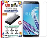 Jump Start Tempered Glass 3D Touch Screen Protector Case Friendly for Asus Zenfone Max Pro M1