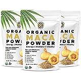 Earth Circle Organics - Organic Peruvian Mighty Maca Root Powder   Natural Superfood   Ideal for Men & Women   Helps with Energy, Hormone, Weight   USDA Organic, Kosher, Raw and Vegan