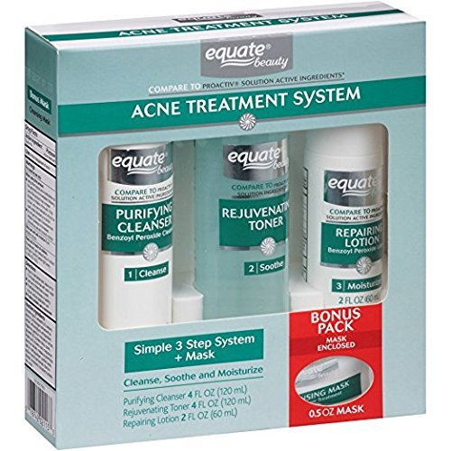 Equate 3-Step Acne Treatment System + Mask by Equate