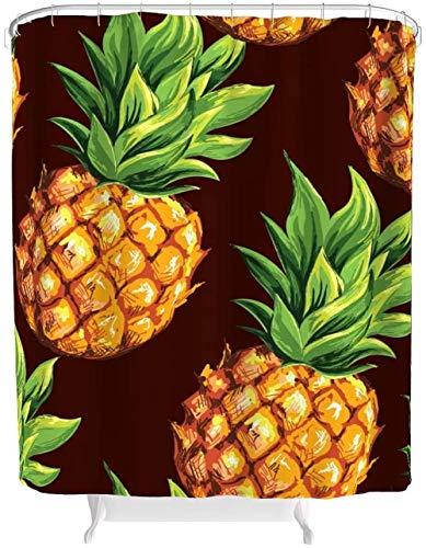 kglkb Duschvorhang Ananas Obst Duschvorhang 3D Digitaldruck Hotel House wasserdichte Duschvorhänge Mit Duschvorhang Ringe Polyester
