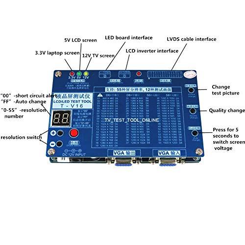 """Panel Tester, Laptop-TV/LCD/LED-Test-Tool Panel Tester, Unterstützung 7-84\""""w/LVDS-Schnittstellenkabel und Wechselrichter"""