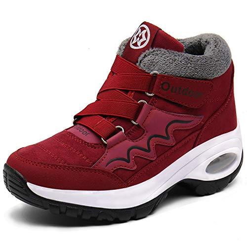 Botas Mujer Botines Zapatos Invierno Botas de Nieve Deportivas Caliente Botines Calentar Forrada Zapatillas Fur Forro Sneakers