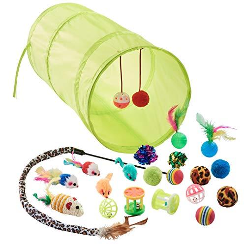 Dein Zooshop 21 teiliges Katzenspielzeug Set - für alle Katzen und Kätzchen geeignet