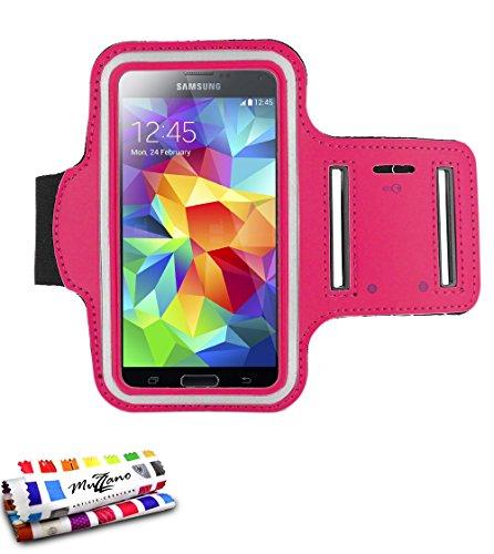 MUZZANO F2502028 - Brazalete para Samsung Galaxy S4 Advance, Color Rosa