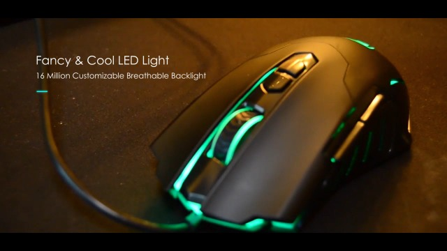 PICTEK Gaming Mouse Wired [7200 DPI] [Programmable] [Breathing Light] Ergonomic Game USB Computer Mice RGB Gamer Desktop…