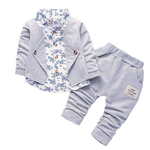 Sunday Kleinkind Baby Kleidung Jungen 0-6 Monate Suit Formelle Hochzeit Jacke Top +Hose Outfits Set 2 Stück Kinderbekleidung