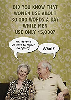 30,000 Words a Day Funny Birthday Card