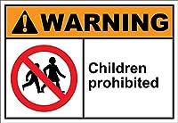 プライベートサイン、子供禁止警告、レトロメタルウォールデコレーションアートショップマンケーブバーガレージアルミサイン私有財産、屋外危険サイン