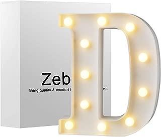 Zebery Led Letters Lights Alphabet Warm White LED Letter Light Up Alphabet Letter Lights for Bachelorette Party Wedding Receptions Holiday Home & Bath Bridal Bar Décor D