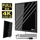 TV Aerial 2020 LATEST, Indoor TV Aerial 130 Miles Digital HDTV Antenna with Amplifier Signal Booster, Freeview...