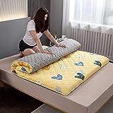 Nuiik-C22x Materasso Tatami Pieghevole per Adulti Cartone Animato, Materasso Singolo Matrimoniale Spessore Quattro Stagioni 5 cm per Camere Familiari...