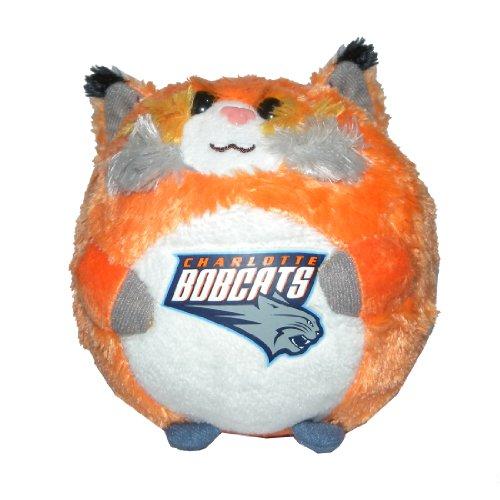 NBA Charlotte Bobcats Soft Small Beanie Ballz / Plush Toy Orange & White