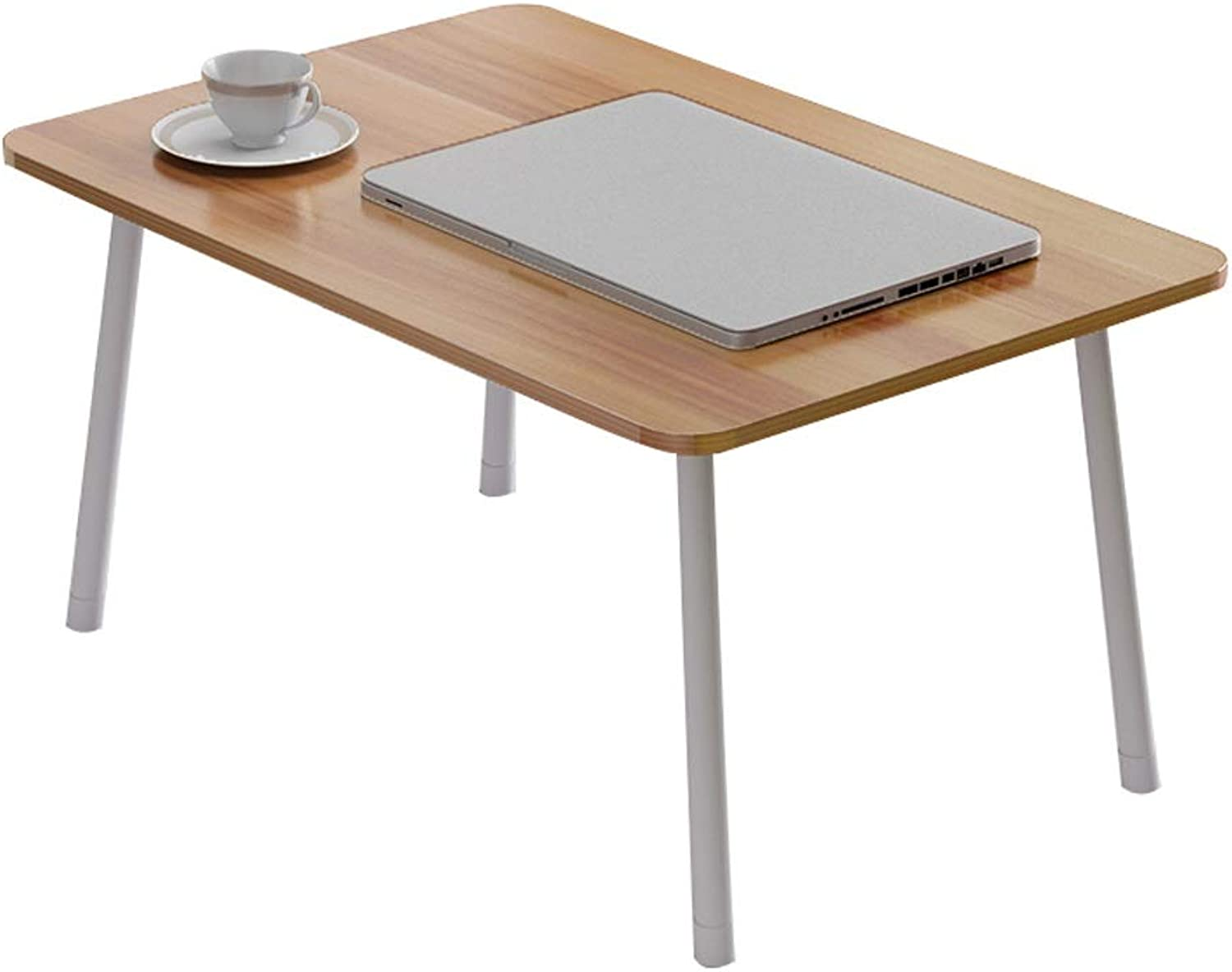 Lazy Folding Study Desk Small Table, Simple Portable Table, Mobile Breakfast Table (60x40 x 29 cm) Two Optional (Size   Round Leg Folding Table)