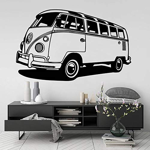 HGFDHG Viaje Alquiler de Coches Pared Moda Vinilo Pared Coche hogar Viaje autobús Pared habitación Familiar decoración Mural