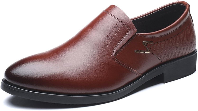 LEDLFIE Men's Real Leather shoes Business Casual shoes Low-Cut Footwear