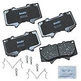 Bendix Premium Copper Free CFC976 Ceramic Brake Pad (with Installation Hardware Front)