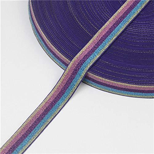 Luipaard print elastische banden 2,5 cm dikke zachte rubberen broek elastisch koord 25 mm voor hoofdband heupgordel Kleding Craft accessoires, paarse kleur, 25 mm