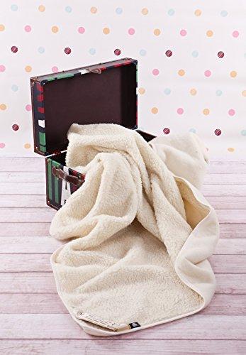 Merino Wool Bedding Ecru Blanket 100 x 140 cm Baby Blanket , Merino Wolle Decke Kinder Decke Schurwolle
