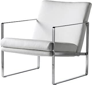 PEÑA VARGAS - C&C - Sillones Modernos para Salón - Butaca New York Blanco/Cromo