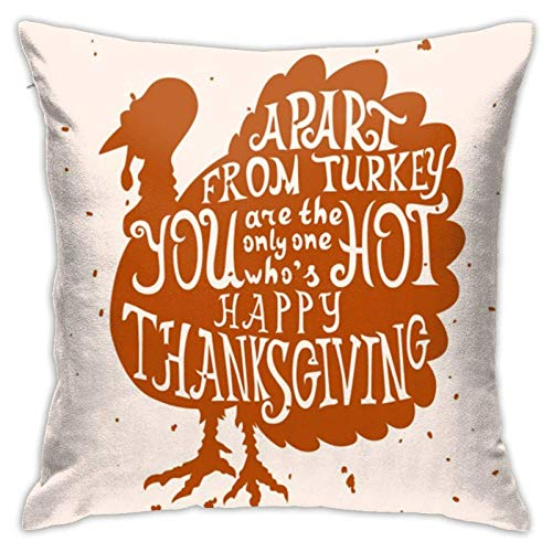 Fundas de almohada de algodón y poliéster con letras de Acción de Gracias, fundas de almohada para sofá, decoración del hogar, 45,7 x 18 pulgadas